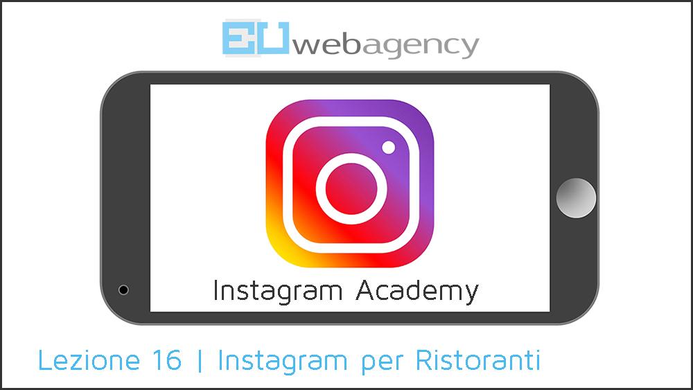 Instagram per Ristoranti | Instagram Academy | 2018