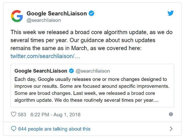 Aggiornamenti algoritmo