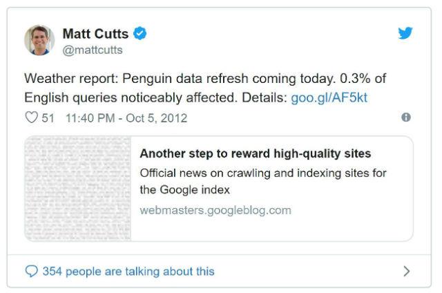 Penalizzazione Google Penguin
