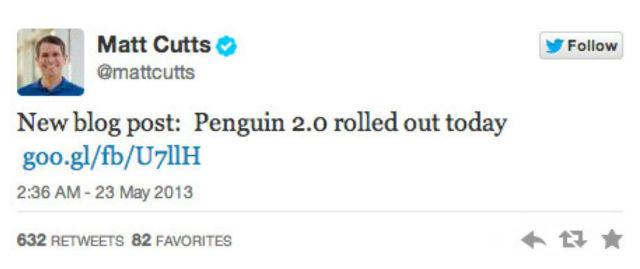 Recupero penalizzazione Google Penguin