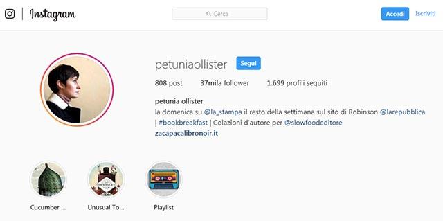 Petunia Ollister Instagram
