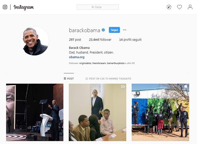 Personaggio pubblico Instagram