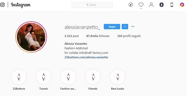 Alessia Vanzetto Instagram
